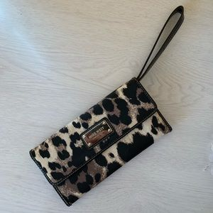Nine West Cheetah Print Wallet/Wristlet